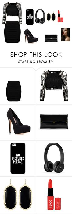"""""""My Black everyday style"""" by keyonnakekevaughan ❤ liked on Polyvore featuring Zizzi, Boohoo, Carvela Kurt Geiger, Diane Von Furstenberg, Casetify, Beats by Dr. Dre and Kendra Scott"""