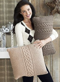 Textured Pillow Shams -pattern in knit simple magazine holiday 2012