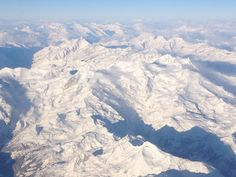Portes du Soleil seen from an airplane.