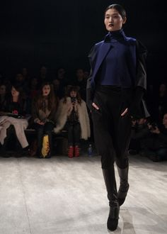 Fall 2014 Fashion Trends: Colorblocked Outerwear | PARKCHOONMOO Fall 2014 | New York Fashion Week