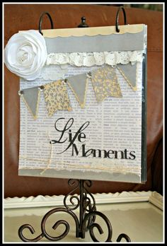 "I love this project by DT Member Yvonne Blair using Teresa Collins Carolina Breeze and the new Cricut Cartridge ""Pretty Pennants"""