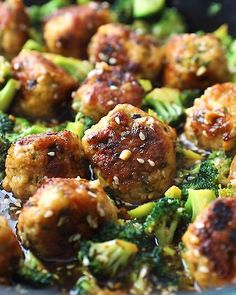 These meatballs are flavorful, protein-packed and made in one pan! They're full of spices and cooked with healthy broccoli in a sweet and spicy ginger sesame sauce. Serve this nutritious dish with coconut rice, brown rice or quinoa for a balanced meal. You'll love this weeknight dinner!
