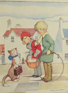vintage book illustration, by Gregor Ian Smith.