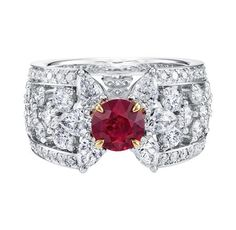 Harry Winston Ruby and Diamond Ring