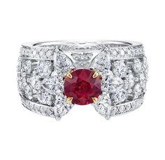 Harry Winston Ruby and Diamond Ring