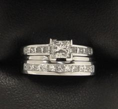 Princess Diamond White Gold Engagement and Wedding Ring handmade by Peter Kumskov 'My Own Jeweller Direct'.