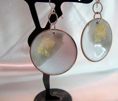Enamel on copper earrings   one of kind by dhicksdesigns on Etsy