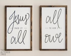 Jesus Paid It All Al