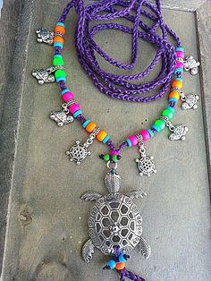 Púrpura tortuga descalzo colores de neón sandalias Hippie por FiArt