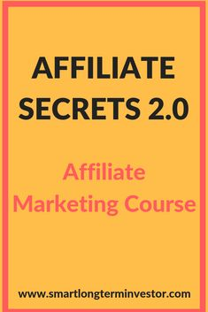 Affiliate Secrets is the top affiliate marketing training from the Clickfunnels Affiliate and Dream Car Winner, Spencer Mecham Email Marketing Strategy, Affiliate Marketing, Online Marketing, Marketing Training, Business Marketing, Content Marketing, Make Money Online, How To Make Money, Business Entrepreneur