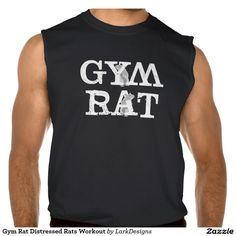 Gym Rat Distressed Rats Workout Sleeveless Tee