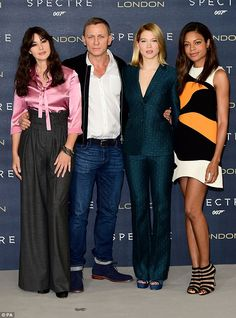 Relaxed: Actor Daniel Craig, 47, showcased a more casual side to his style as he attended ...