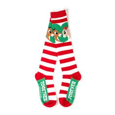 Holiday Rudolph and Clarice Together Forever Knee Socks