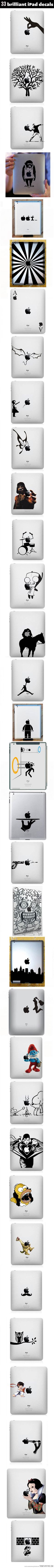 Brilliant iPad decals…
