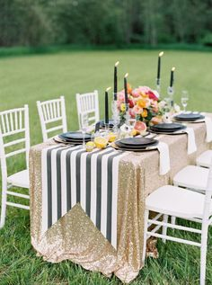 Bright florals, stripes and a dash of glitter:Photography: Jeremiah and Rachel - http://jeremiahandrachel.com