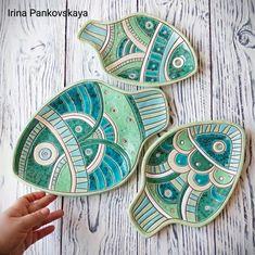 Clay Fish, Ceramic Fish, Ceramic Wall Art, Ceramic Animals, Ceramic Pottery, Pottery Painting, Ceramic Painting, Pottery Handbuilding, Pottery Sculpture