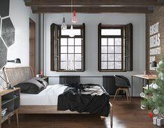Camera da letto in stile scandinavo 17