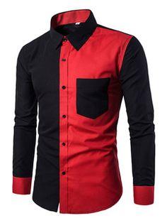 9f7ff10c9695 Camisa preta casual masculina mangas compridas mangas curtas gola alta  mangas compridas Casual Shirts