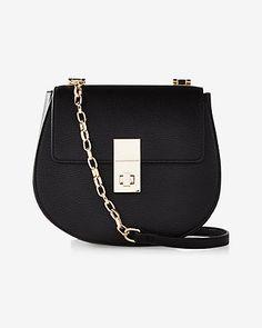 Turnlock Crossbody Bag