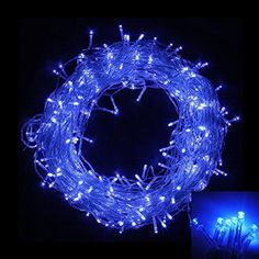 Blinngo 8 Modes LED Waterproof String Light 30M 98ft 200LED Fairy Lights for Indoor Outdoor Yard Garden Path Chrismas Landscape Wedding Party Holiday Decoration Blue *** For more information, visit image link.