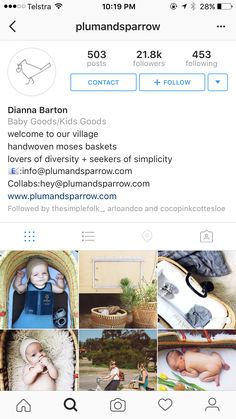 Plumandsparrow - hand woven baskets for babies