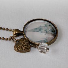 LDS Temple Picture Pendant Necklace  Bronze by LDSDecordotcom