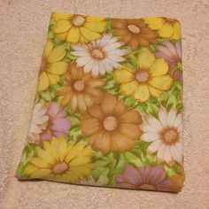 VTG Full Bed Sheet Flat Cannon Monticello Muslin Flower Power Mod Floral Retro #CannonMonticello