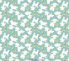 Tissu Moutons patchwork woodland tails Riley Blake bleu