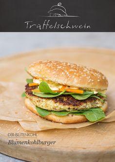 Blumenkohl-Burger mit Currysauce