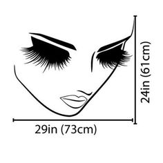 Women Face Eyes Wall Decal - Home Decor - marketplacefinds  - 4