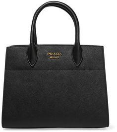 Prada - Bibliothèque Textured-leather Tote - Black