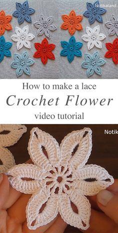 Easy crochet lace flower you should learn crochetbeja crochet flowers knitting knittingbaby knittingprojects knittingprojectsforbeginners box stitch free crochet pattern Crochet Leaves, Thread Crochet, Crochet Motif, Crochet Designs, Crochet Flowers, Easy Crochet Flower, Crocheted Lace, Irish Crochet, Knitting Patterns