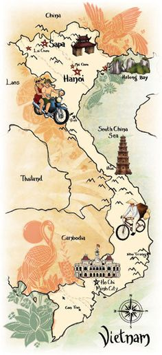Georgie Fearns - Map of Vietnam