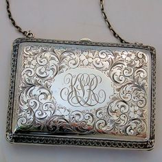 In Style; Antique Art Nouveau Gold Daisy Filigree Frame Brown Copper Iridescent Bead Purse Fashionable