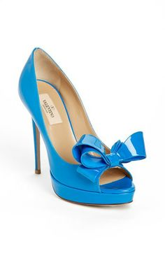 Valentino 'Couture Bow' Open Toe Pump available at #Nordstrom