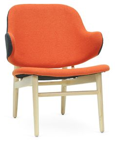 One Kings Lane - Brighten Up - Kehoe Modern Accent Chair, Gray/Orange