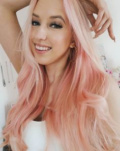 So I decided to dye my hair pink! I saw this girl working in a coffee shop who had pink hair and I loved it, I ask her what dye she used and she said Joico. Hair Tips, Hair Hacks, Hair Inspo, Hair Inspiration, Hair Extension Shop, Types Of Hair Extensions, Dying My Hair, Glamorous Hair, Natural Hair Styles