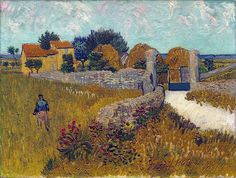 """lonequixote: """"Farmhouse in Provence by Vincent van Gogh """""""