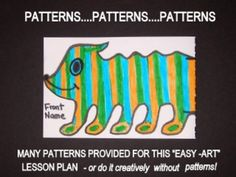 "DRAWING CRAZY HALFWAY CREATURES with optional patterns. What fun to be creative and draw imaginative, original, silly animals or creatures! And then, add mystery to the project! Download includes: PDF lesson plan, patterns, photos To provide the elementary student with a fun visual arts drawing lesson that can be done partially with patterns as ""easy-art"" in the classroom or  art room. http://www.teacherspayteachers.com/Product/DRAWING-CRAZY-HALFWAY-CREATURES-with-optional-patterns-1374567"