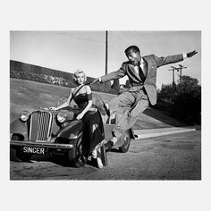 "Marilyn Monroe with Sammy Davis Jr  on the set of ""How to Marry a Millionaire""(photo by Frank Worth 1953)"