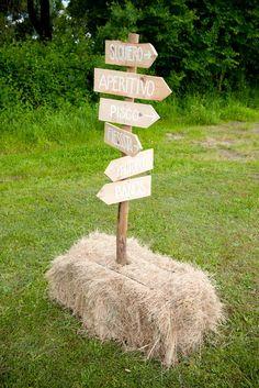 Rustic Wedding Sign | Boda chic en el campo