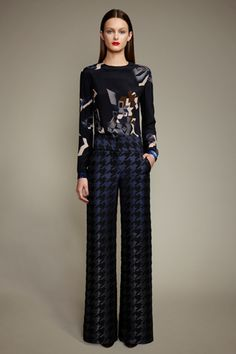 Ports 1961 - Houndstooth 70's wide legged pants.