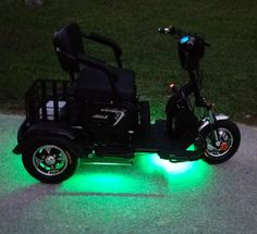 """When you want MORE than the average """"granny"""" style mobility scooter Ground Effects, Scooters, Lighting, Luxury, Light Fixtures, Motor Scooters, Lights, Lightning, Vespas"""