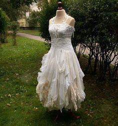 Fairy Wedding Dress Upcycled Clothing Tattered Romantic By | Ask Home Design