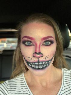 Cheshire Cat makeup Cheshire Cat Halloween Costume, Halloween Cat, Halloween Costumes, Halloween Face Makeup, Cheshire Cat Makeup, October, Make Up, Cats, Gatos