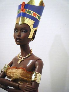 have you ever given your child an African Queen doll to play with ... so they may imagine to be her commanding her First Nation?