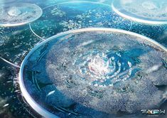 The amazing sci-fi art of Tryingtofly How to Draw and Paint Science Fiction Art Fantasy City, Fantasy Castle, Fantasy Places, Sci Fi Fantasy, Fantasy World, Futuristic City, Futuristic Architecture, Arte Dark Souls, Sci Fi Kunst