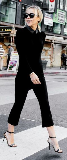 All In Black City Chic Outfit by Damsel In Dior
