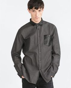 Image 2 of COMBINED DENIM SHIRT from Zara