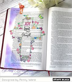 Bible journaling and… a cell phone! | The Penny Black Blog